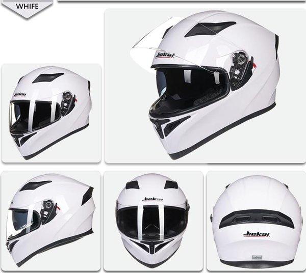 best selling Best Sales DOT Approved Safety Motorcycle Helmets Full Face Dual Lens Racing Helmet Strong Resistance Off Road Helmet JIEKAI