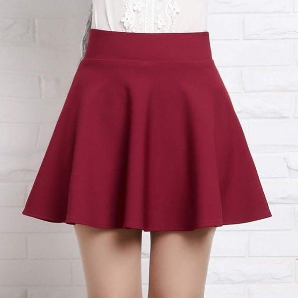 Falda de vino tinto con pantalones de seguridad