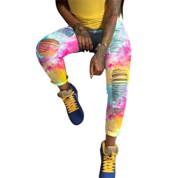 Cyan-Gelb Tie Dye