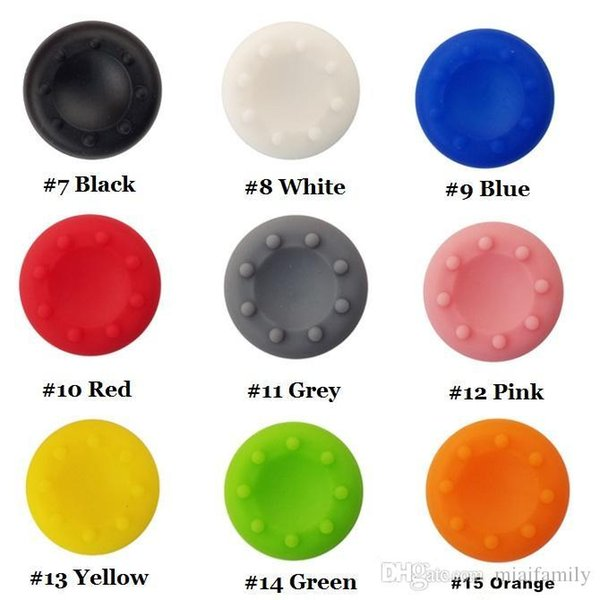top popular 2019 Silicone thumbstick caps thumb grip caps for PS4, PS3, Xbox one and Xbox360 controllers free ship 2020