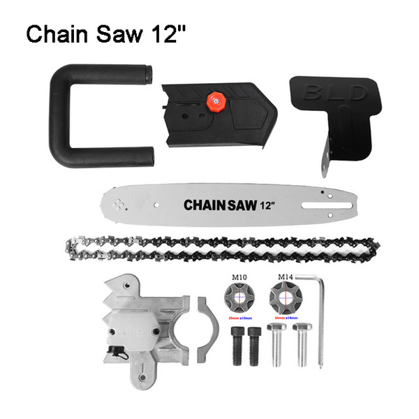 top popular Hot Sell Multifunction Electric Chain Saw Adapter Converter Bracket DIY Set For 12'' Electric Angle Grinder Woodworking Tool M14 AND M10 2021