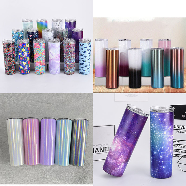 top popular 304 Stainless Steel Cup Solid Color Printing Marble Pattern Coffee Juice Home School Office Cup 2021