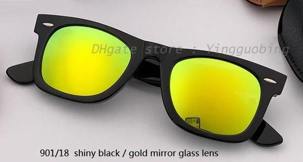50 mm 901/18 specchio nero lucido / oro