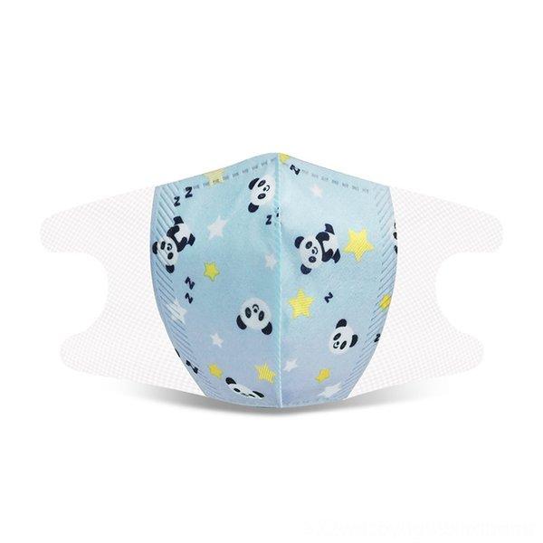 children's 3D4-12 blue panda head