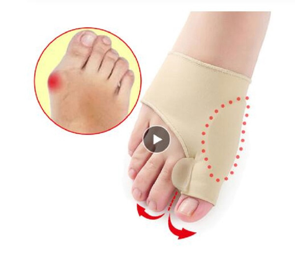 best selling 2Pcs=1Pair Toe Separator Hallux Valgus Bunion Corrector Orthotics Feet Bone Thumb Adjuster Correction Pedicure Sock Straightener
