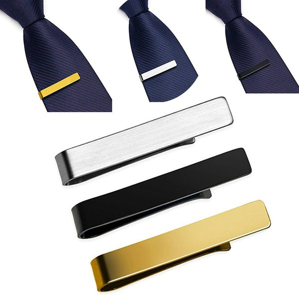 best selling Simple Tie Clips Stainless Steel Ties Bars Necktie Business wedding Formal Blank Bar Grooms Mens Clip Gift drop ship