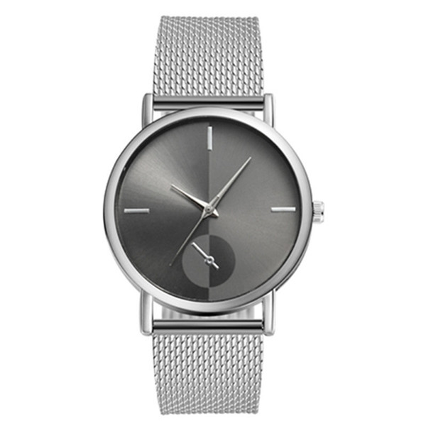 Silver with black dial