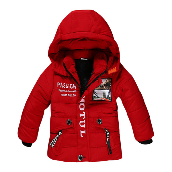 top popular New Boy Winter Jacket High quality Cotton-Padded Hooded Fashion Kids Coat Warm Children Outerwear 3 color clothing 2020