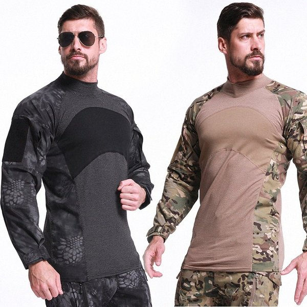 top popular Mens Tactical Clothing Combat Shirts Hunting Camouflage Army Uniform Long Sleeve Paintball Camping Hiking 2020 Fcy6# 2021
