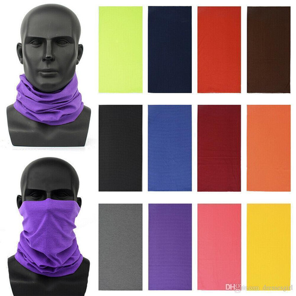 top popular DHL Ship Cycling Magic Head Face Mask Neck Protective Gaiter Biker's Tube Bandana Scarf Wristband Beanie Cap Outdoor Sports Unisex 2020