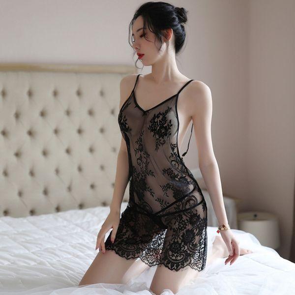 Preto Se ≤ Nightdress-One Size
