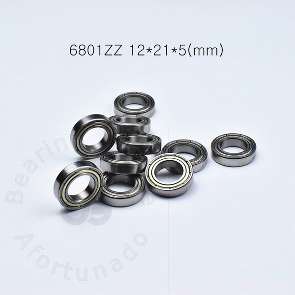 top popular 6801ZZ 10PCS bearing Metal sealed Thin wall bearing free shipping 6801 6801ZZ 12*21*5 mm chrome steel deep groove bearing 2021