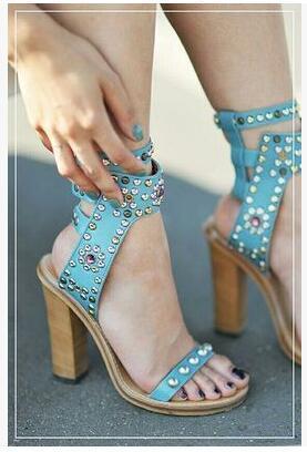 sky blue 11cm heel