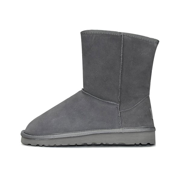 4 curto clássico Boot - Grey