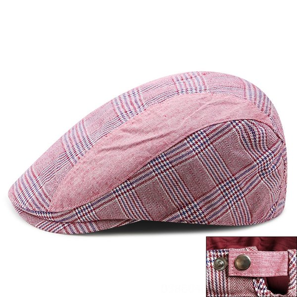 plaid-Red-Adjustable for 56-59cm head ci