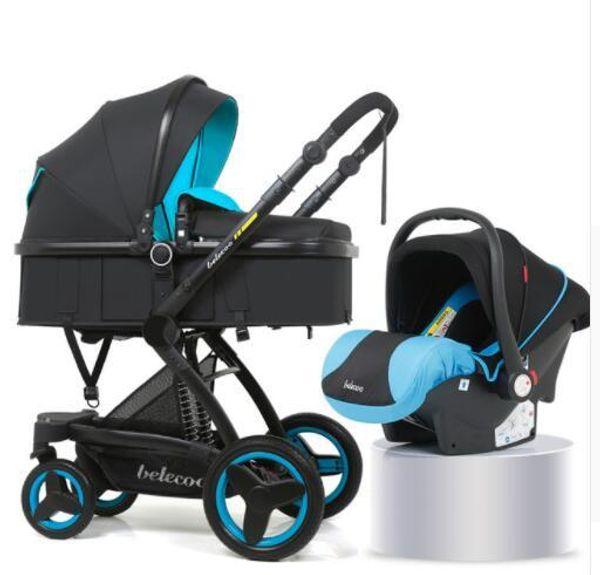 2pcs negro azul
