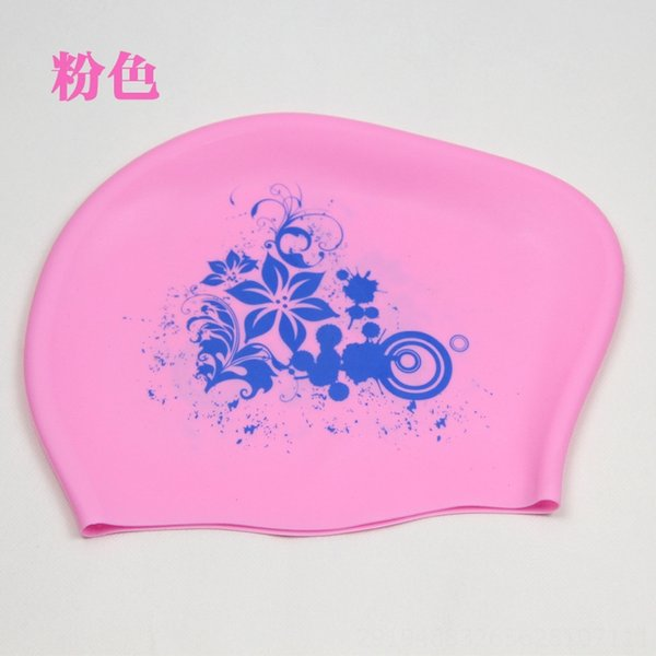 Pink (silicone Flower Swimming Cap)