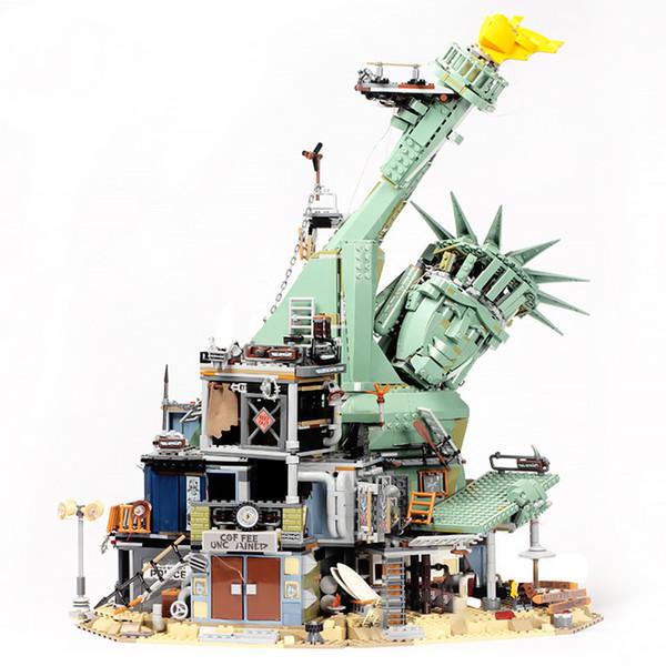 top popular In stock 45014 Movie Seies of Liberty Welcome to Apocalypseburg Building Block Bricks Compatible 70840 Movie 2021