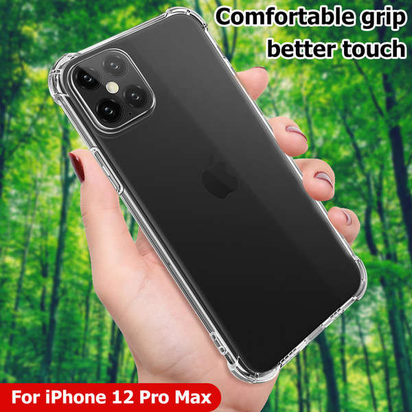 best selling For 2020 New Apple iPhone 12 Pro Max X Xs XR 11 ProMax 7 8 plus Shockproof Hard Acrylic Case Back Cover Transparent Clear Airbag Corners