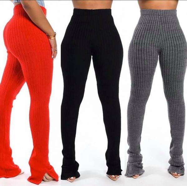 top popular Women Pants High Waist Leggings Hip Hop Trousers Sexy Fold Night Party Streetwear Club Bandage Pants Sweatpants Bell-bottoms Casual Pants 2020