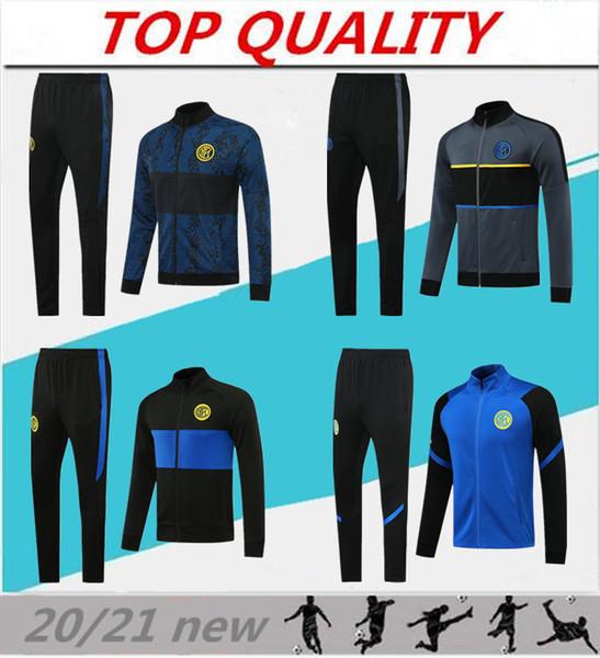 top popular 2020 2021 INter football tracksuit jackets kits 20 21 Survetement ALEXIS LUKAKU LAUTARO MILAN soccer training suit tracksuit jacket set 2020