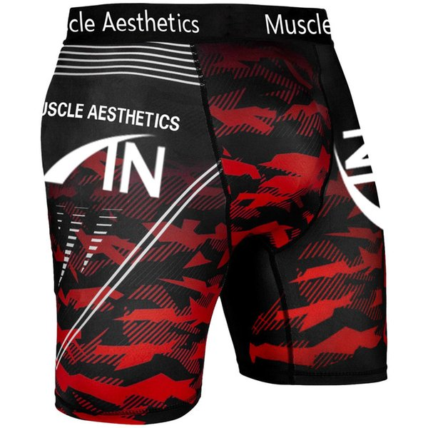 Rojo Blanco Pantalones cortos
