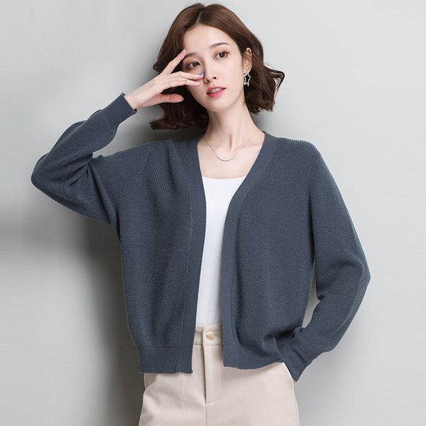 Womens clothing Cardigans Sweater Solid color V-Neck Loose Knitted Tops Winter new Casual Wool Thin Sweaters Womens clothing Cardigans Sweater Solid color