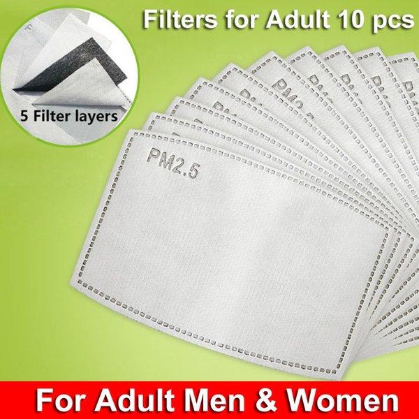 Yetişkin 10pcs PM2.5 Filtreler