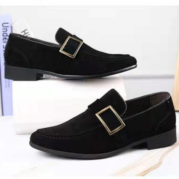 best selling Formal wear Frosted texture Men business shoes Large size low-heel Wear resistant and antiskid sole leather shoes soft sole wholesale lot