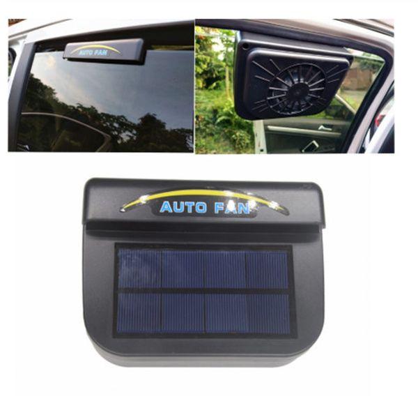best selling 1Pcs Solar Power Auto Window Fan Air Vent Cooling Fan Ventilation Cooler Radiator Solar Exhaust Fan with Rubber Stripping Car