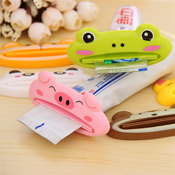 best selling 9*4cm Cartoon Animal Plastic Toothpaste Squeezer Bath Toothbrush Holder Bathroom Sets Home Commodity Creative Kitchen Accessorie