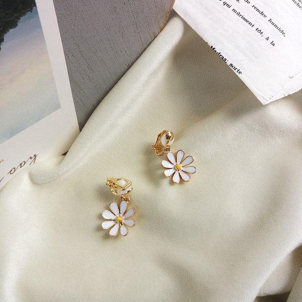 Çiçek Kulak Klipleri bir Çifti