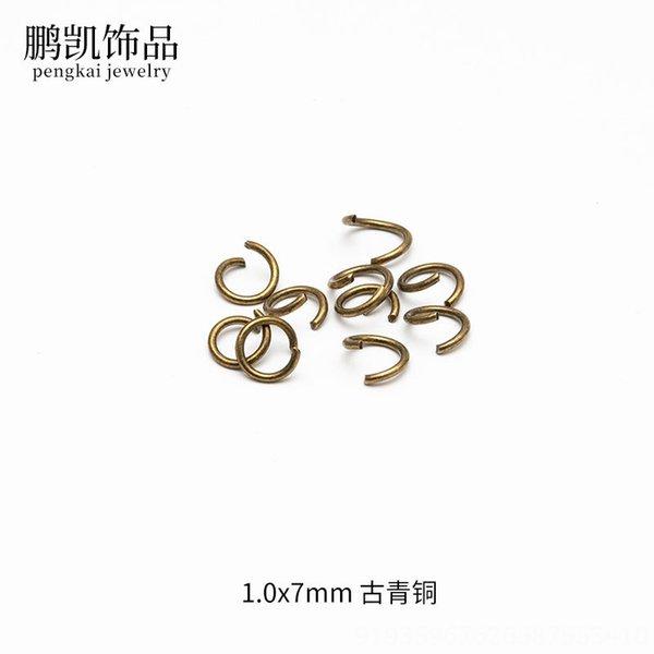 1,0 x 7 mm de bronce antiguo