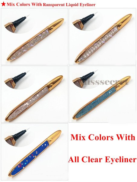 Mix colors with clear eyeliner