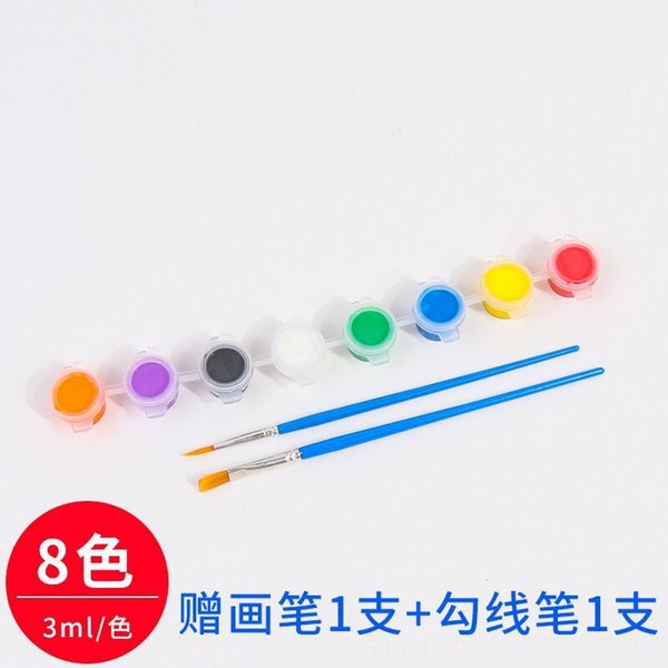 White 8-color Propylene +2 Brushes