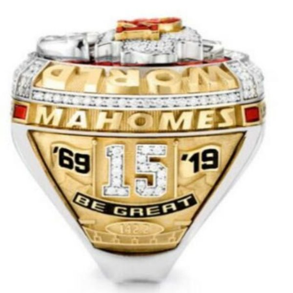 best selling Kansas 2019 2020 City Chiefs World Championship Ring Souvenir Men Fan Gift 2020 Drop Shipping