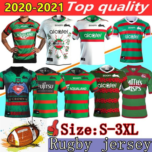 top popular 20 201 New South Sydney Rabbitohs ANZAC Indigenous rugby Jersey 2020 2021 NRL Rugby League jerseys Shorts Australia maillot de rugby shirt 2020