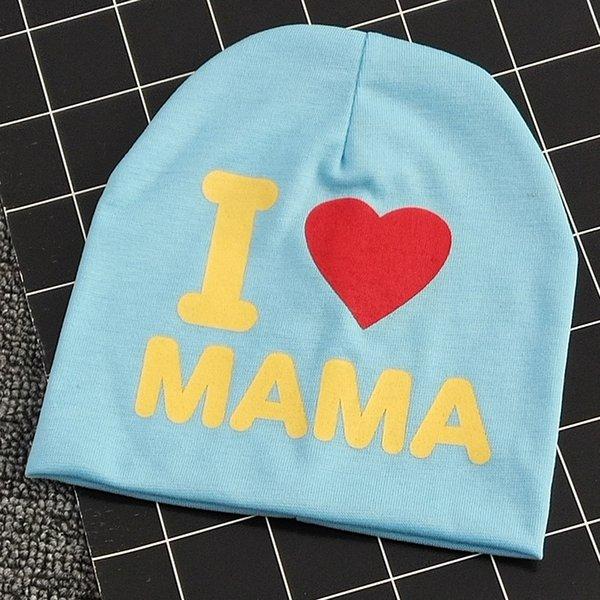 i Love Mom Aqua Bleu