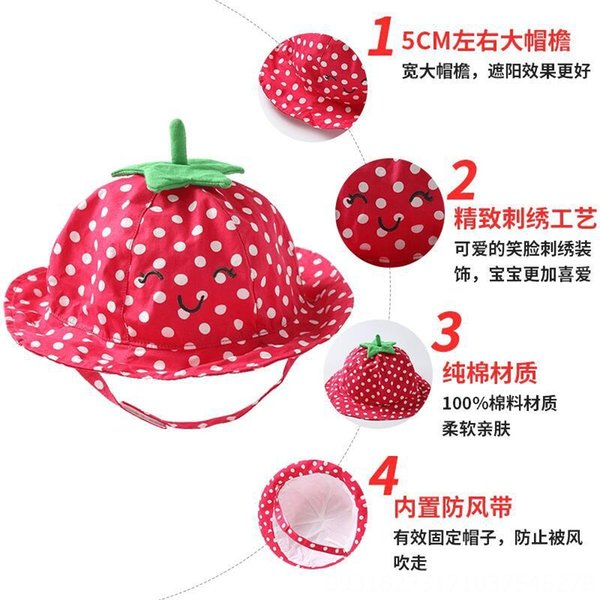 Red Strawberry Basin Cap