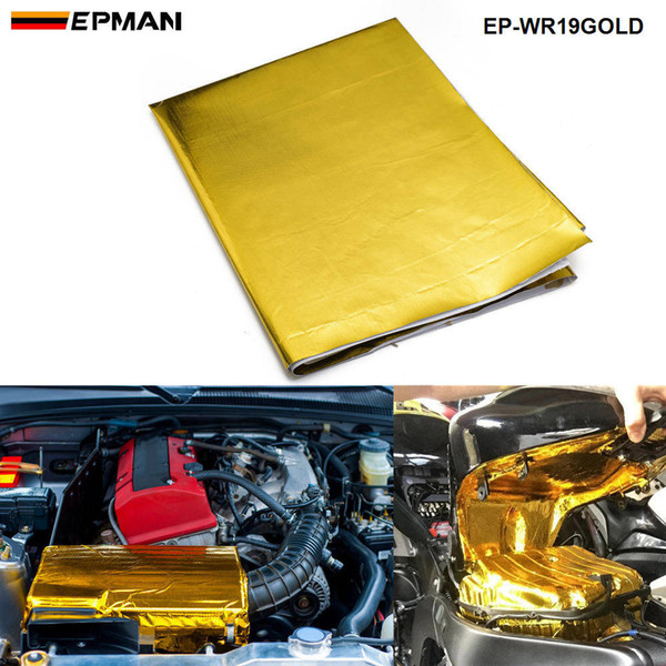 best selling EPMAN High Quality SELF ADHESIVE REFLECT-A-GOLD HEAT WRAP BARRIER High Quality 39in.x 47in.Piece EP-WR19GOLD