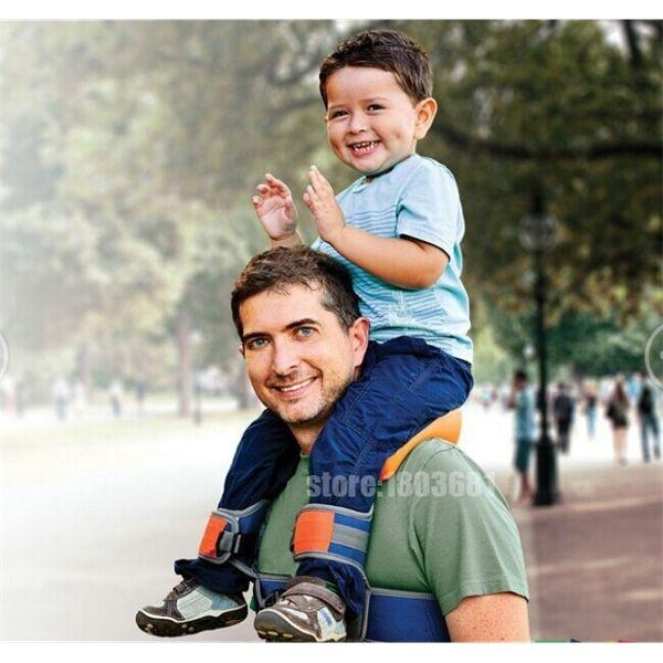 best selling Hands-Free Shoulder Carrier Nylon Child Strap Rider for 2-5 Years Old Kids Baby Safest Kangaroo Wrap Sling Suspenders C0922