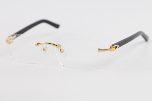 best selling Factory direct sale Rimless Women man gold frame glasses eyeglasses frames C Decoration gold frame glasses Size:56-18-140mm