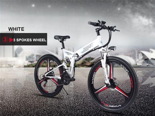 3 spokes wheel white