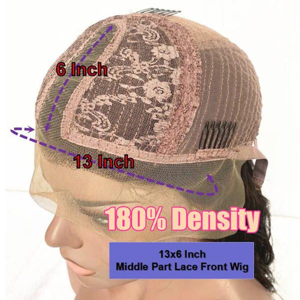 180Density 13x6 Middle Part Wig