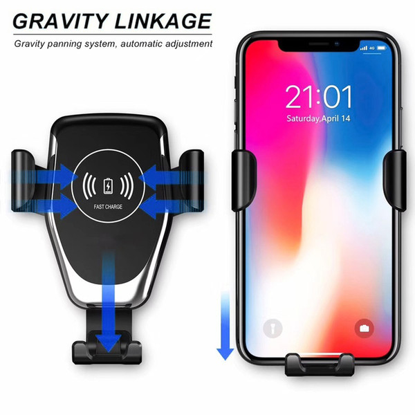 best selling 2020 Automatic Gravity Qi Wireless Car Charger Mount For IPhone XS Max XR X 8 10W Fast Charging Phone Holder for Samsung S10 S9