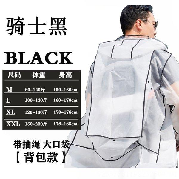 Negro (con bolsillos y Schoolbags)