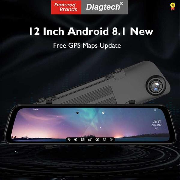 top popular 12 Inch 4G Car Rearview Mirror Android 8.1 FHD Car Dvr Mirror WiFi GPS Navigation Dash Camera ADAS Dashcam Auto Registrar 2021