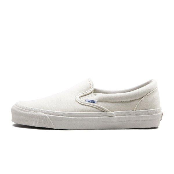 slip on triple white