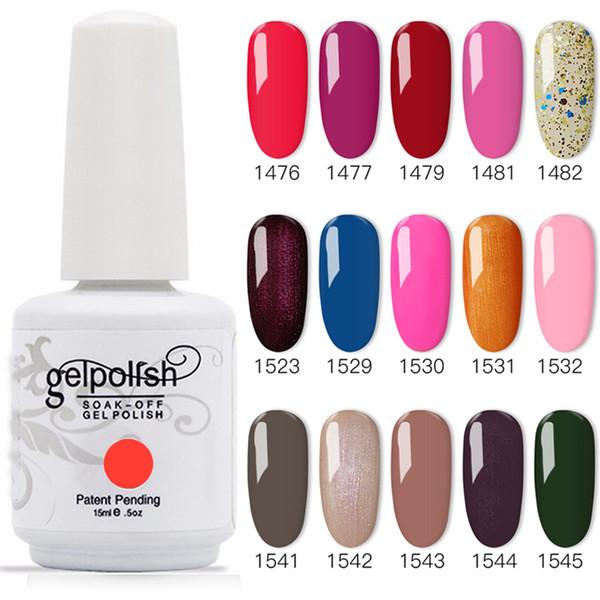 top popular 100% Brand New Gel Nail Polish Soak Off Nail Gel 489Colors 15ml 12Pcs lot 15ML Factory Wholesale 2021
