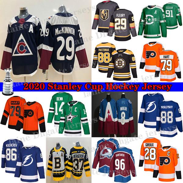 top popular Vegas Golden Knights Jersey 29 Marc-Andre Fleury Colorado Avalanche 29 Nathan MacKinnon Philadelphia Flyers 79 Carter Hart Hockey Jerseys 2020